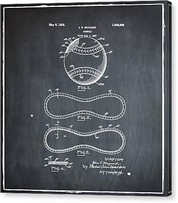 Vintage 1928 Baseball Patent Chalk Canvas Print by Bill Cannon