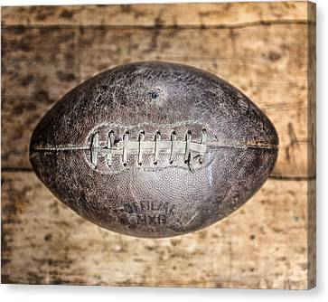 Vintage 1940s Macgregor Mcg Intercollegiate Football  Canvas Print by Lisa Russo