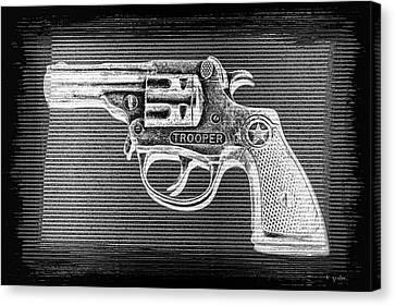 Vintage 1950's Cap Pistol Bw Negative Canvas Print by Tony Grider