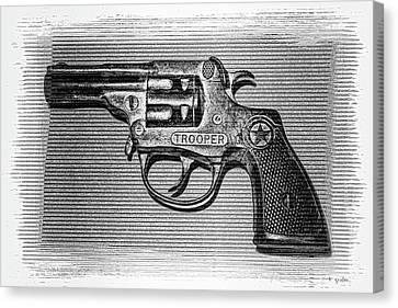 Vintage 1950's Cap Pistol Bw Canvas Print by Tony Grider