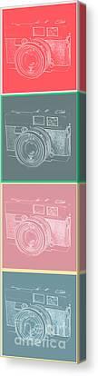 Vintage 35mm Film Camera Pop Art Totem Canvas Print by Edward Fielding