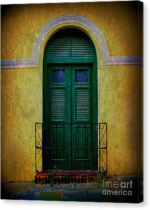 Vintage Arched Door Canvas Print by Perry Webster