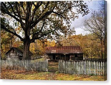 Vintage Arkansas Homestead Canvas Print by Marty Koch