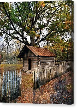 Vintage Arkansas Out Building Canvas Print by Marty Koch