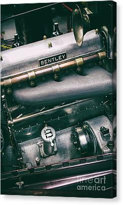 Vintage Bentley Engine Canvas Print by Tim Gainey