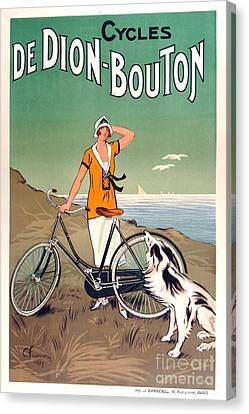 Vintage Bicycle Advertising Canvas Print by Mindy Sommers