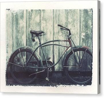 Vintage Bike Polaroid Transfer Canvas Print by Jane Linders