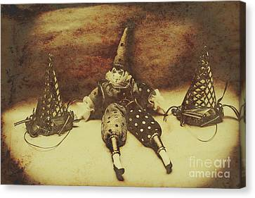 Vintage Clown Doll. Old Parties Canvas Print by Jorgo Photography - Wall Art Gallery