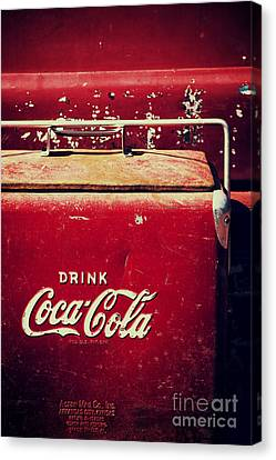 Vintage Coke Cooler Canvas Print by Tim Gainey