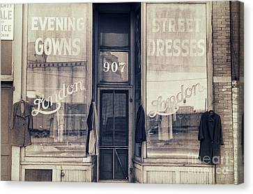 Vintage Dress Shop Canvas Print by Mindy Sommers