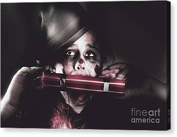 Vintage Evil Dead Terrorist With Explosives Canvas Print by Jorgo Photography - Wall Art Gallery