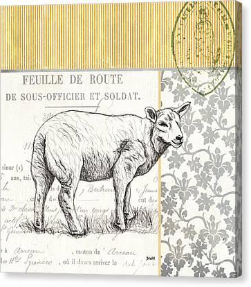 Vintage Farm 3 Canvas Print by Debbie DeWitt