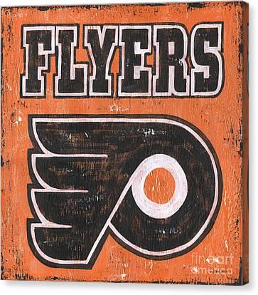 Vintage Flyers Sign Canvas Print by Debbie DeWitt
