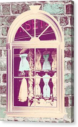 Vintage French Corset Shop Canvas Print by Mindy Sommers