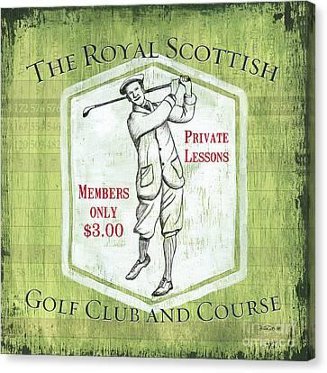 Vintage Golf Green 1 Canvas Print by Debbie DeWitt