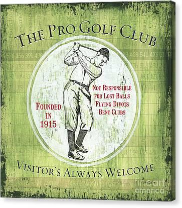 Vintage Golf Green 2 Canvas Print by Debbie DeWitt