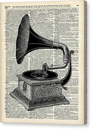 Vintage Gramophone Canvas Print by Jacob Kuch