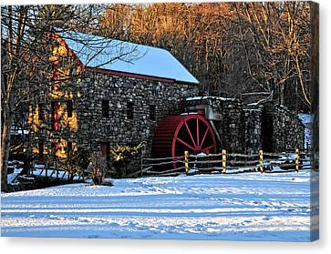 Vintage Grist Mill Canvas Print by Mike Martin