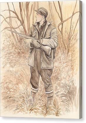 Vintage Hunting Canvas Print by Morgan Fitzsimons