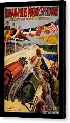 Vintage Indianapolis Motor Speedway Poster Canvas Print by Edward Fielding