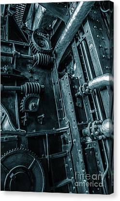 Vintage Industrial Pipes Canvas Print by Carlos Caetano