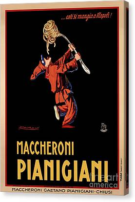 Vintage Italian Pasta Advertising Canvas Print by Mindy Sommers