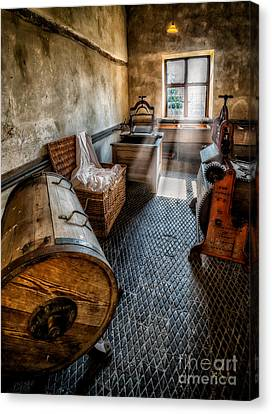 Vintage Laundry Room Canvas Print by Adrian Evans