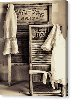 Vintage Laundry Room Canvas Print by Mindy Sommers