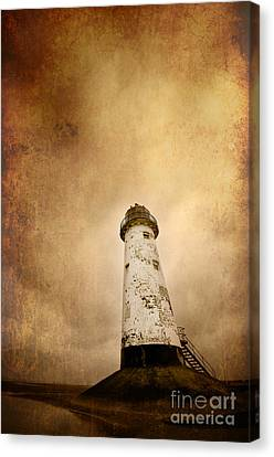 Vintage Lighthouse Canvas Print by Meirion Matthias