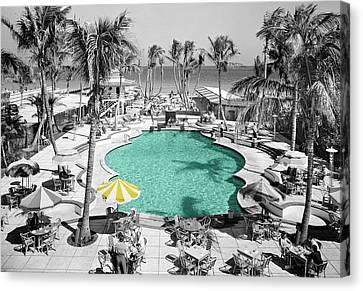Vintage Miami Canvas Print by Andrew Fare