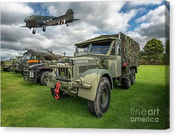 Vintage Military Transport Canvas Print by Adrian Evans