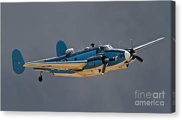 Vintage Naval Twin With Proptip Vortices 2011 Chino Planes Of Fame Air Show Canvas Print by Gus McCrea