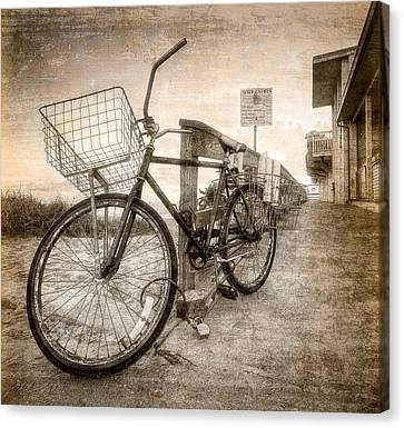Vintage Ol' Bike Canvas Print by Debra and Dave Vanderlaan
