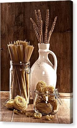 Vintage Pasta  Canvas Print by Amanda Elwell
