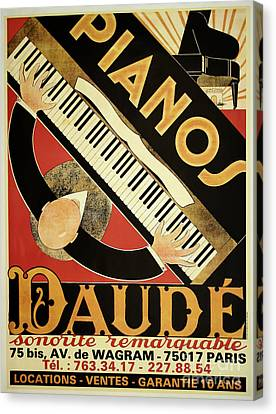 Vintage Piano Art Deco Canvas Print by Mindy Sommers