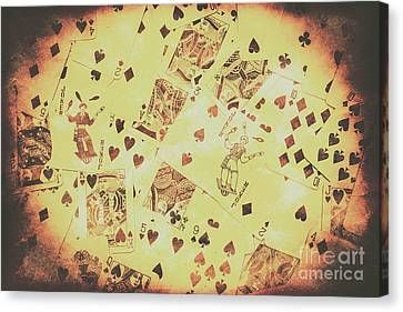 Vintage Poker Card Background Canvas Print by Jorgo Photography - Wall Art Gallery