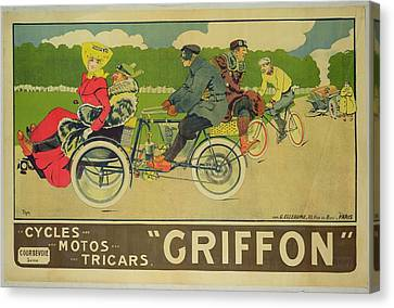 Vintage Poster Bicycle Advertisement Canvas Print by Walter Thor