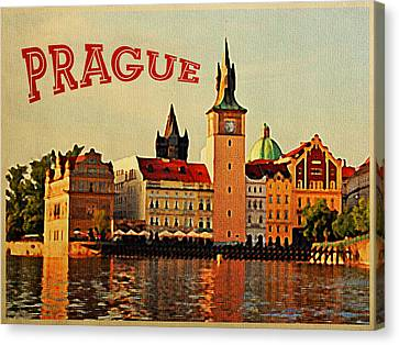 Vintage Prague Canvas Print by Flo Karp