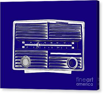 Vintage Radio Tee Canvas Print by Edward Fielding