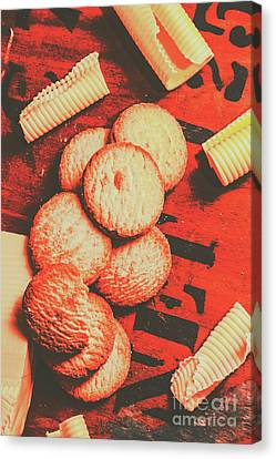 Vintage Rich Butter Shortcake Cookies Canvas Print by Jorgo Photography - Wall Art Gallery