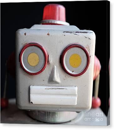 Vintage Robot 1 Dt Canvas Print by Edward Fielding