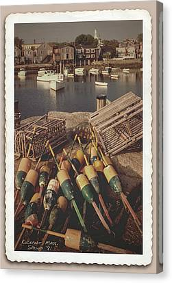 Vintage Rockport Massachusetts Harbor  Canvas Print by Garry McMichael