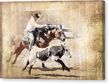 Vintage Rodeo Canvas Print by Delphimages Photo Creations