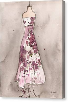 Vintage Romance Dress Canvas Print by Lauren Maurer