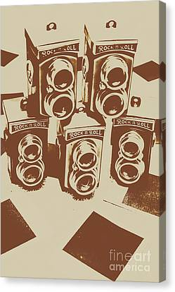 Vintage Snapshots And Old Cameras Canvas Print by Jorgo Photography - Wall Art Gallery