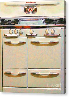 Vintage Stove 20150828 V2 Canvas Print by Wingsdomain Art and Photography