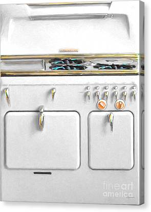 Vintage Stove 20150828 V3white Canvas Print by Wingsdomain Art and Photography