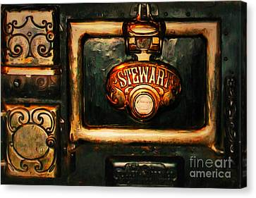 Vintage Stove 20150828 Canvas Print by Wingsdomain Art and Photography