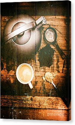 Vintage Tea Crate Cafe Art Canvas Print by Jorgo Photography - Wall Art Gallery