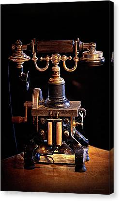 Vintage Telephone - Casa Loma Canvas Print by Maria Angelica Maira